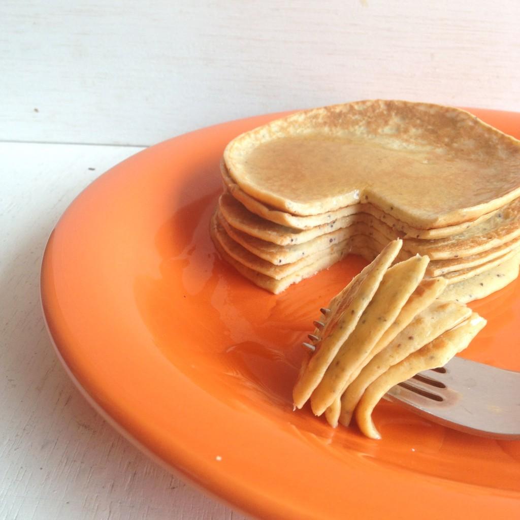 Recetas de pancakes de yogur, amapola y limón