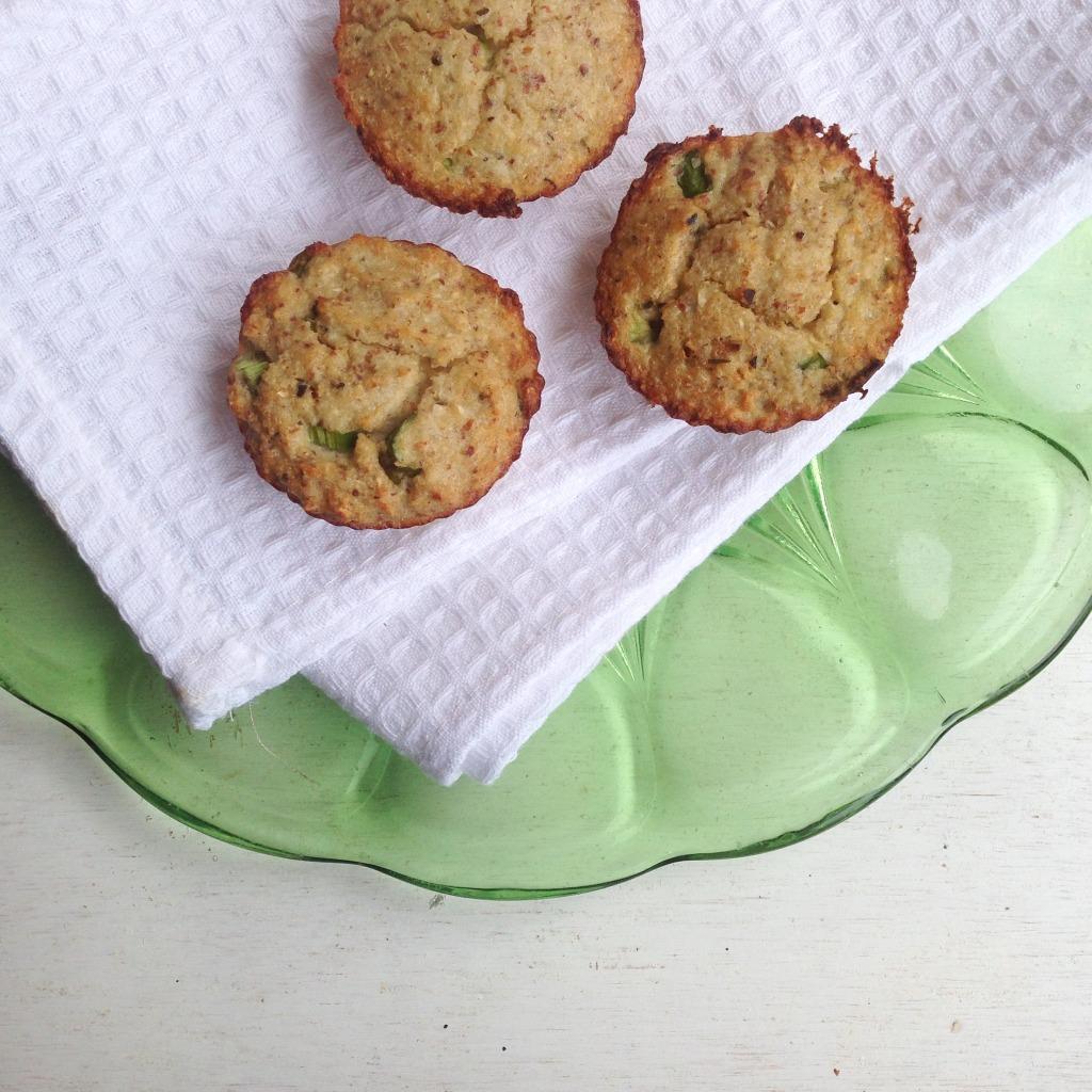 Muffins de coliflor y almendras