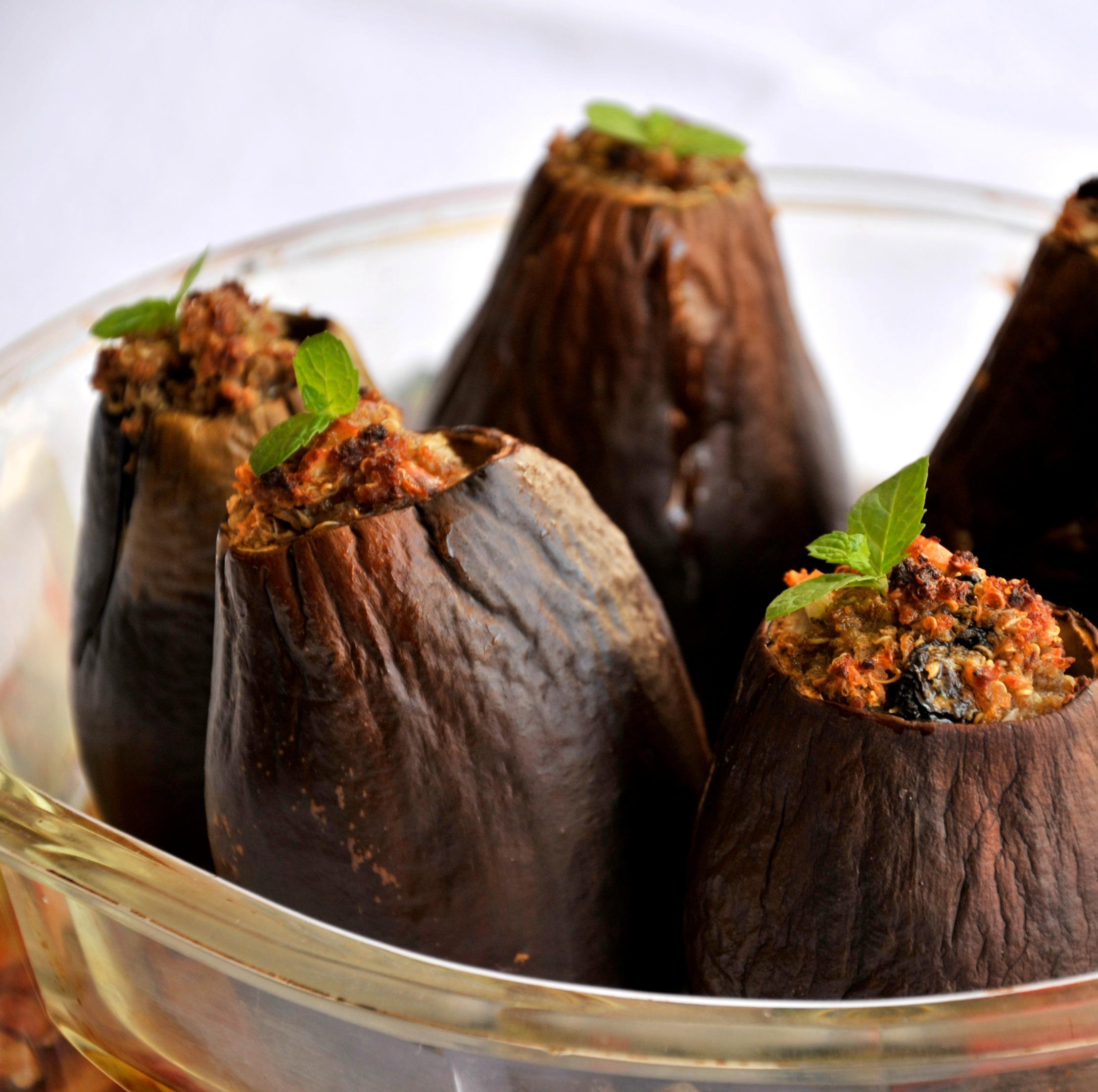 Cocina Arabe C Cocina | Berenjenas Rellenas De Quinoa Gastroglam