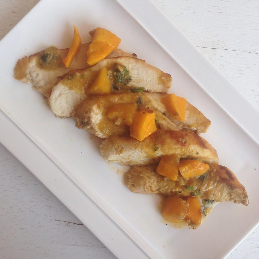Pollo en salsa de mango