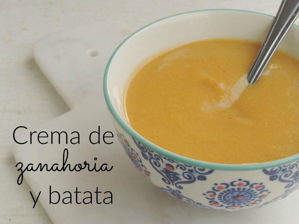 Crema de zanahoria y batata (Post)