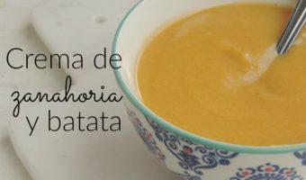 Crema de zanahoria y batata, ideal para calentarnos