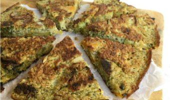 Frittata de quinoa y vegetales asados, un plato versátil