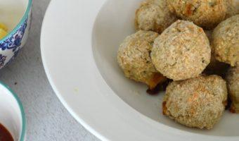Croquetas de arroz rellenas de queso