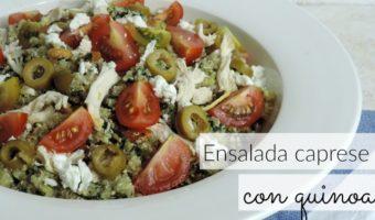 Ensalada caprese con quinoa, ligera y deliciosa