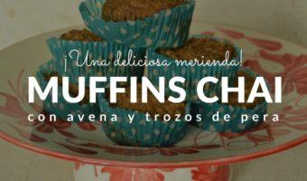 Muffins de avena, pera y especias chai