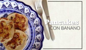 Pancakes con banano, una combinación que no falla