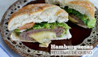 Hamburguesas rellenas de queso, ¡cae en la tentación!