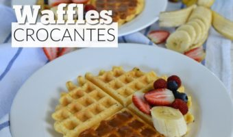 Waffles crocantes con whey protein, ¡te van a encantar!