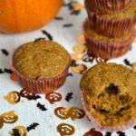 Muffins de auyama y banano para ponerse en modo Halloween