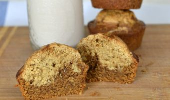 Muffins marmoleados de café, para disfrutar la bebida nacional