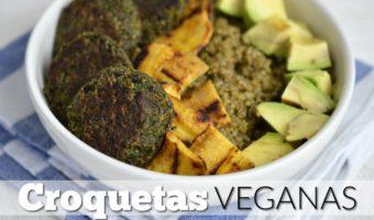 Croquetas veganas de kale y champiñones
