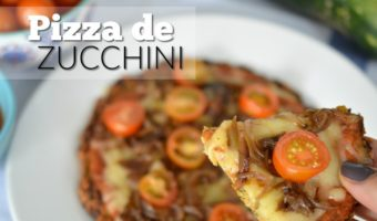 Pizza de zucchini, ideal para cenar saludable