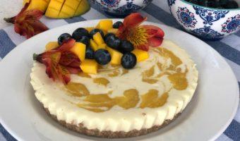 Cheesecake de mango, postre sano que no requiere horno