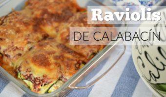Raviolis de calabacín, opción sana para un plato que encanta