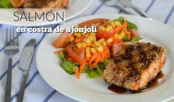 Receta de salmón con costra de ajonjolí, ¡antójate!