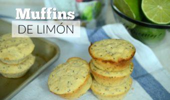 Muffins de limón, semillas de chia y yogur griego