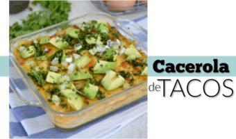 Desayuno mexicano delicioso: cacerola de tacos