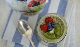 Matcha chia pudding, desayuno rápido y fácil